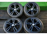 "Genuine Audi A3 Q3 Q2 TT 17"" s line black edition alloy wheels 5x112"