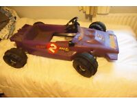 Raleigh pedal car racing car Monaco old shop stock 1970s (purple)