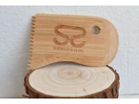 (New) Bamboo Surfboard Wax Comb