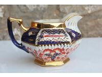 Antique Imari Pattern handpainted Pitcher / Water Jug Welsh Gaudy Hand Painted Vintage