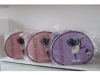 Girls Pink Or Lilac Ballet Dance Tap Hand Vanity Case Bag By Katz Dancewear