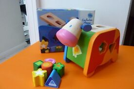 Djeco Wooden Cow Shape Sorter Toy