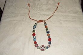 VINTAGE CHUNKY BEADED HANDSTRUNG NECKLACE OF MEXICAN / SOUTH AMERICAN ORIGIN