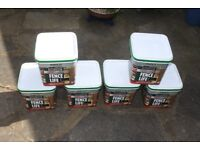 Fence Paint - 6 Unused Containers