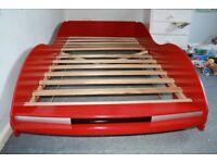 Single bed frame, red racing car design