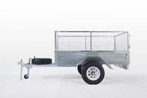 LOWEST PRICE EVER !! 7*5 GALVANIZED BOX CAGE TRAILER  $1,399.00 Wetherill Park Fairfield Area Preview