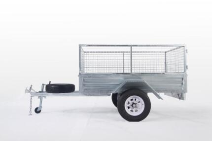 SPECIAL!! 7*5 GALVANIZED CAGE TRAILER HEAVY DUTY $1750 DRIVE-AWAY Wetherill Park Fairfield Area Preview