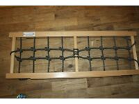 Nursery climbing frame attachment, climbing net