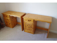 Solid Pine Children's Desk - Good Condition. 2 Available. £25 EACH