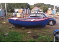13th Fibreglass Boat with Suzuki 8HP and Trailer