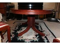 ROSEWOOD EXTENDING TABLE AND CHAIRS
