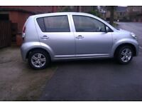 **REDUCED**DAIHATSU SIRION 1.0SE,2008, LOW MILEAGE, £30 ROAD TAX