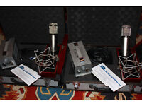 PAIR OF 22 47 SPECIAL EDITION PELUSO MICROPHONES (sold together or separately)