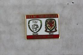 REDUCED TO ONLY £1.50 WALES FOOTBALL BADGE AWAY TO IRELAND