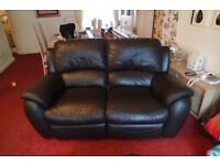 2 and 3 seater leather reclining settees