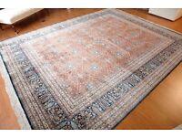Genuine Old Large Handmade Persian Carpet – 100% Silk Qom Qum