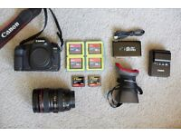 Canon 5D Mk II body + 24-105mm L Series Lens + Accessories