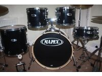 "Mapex V Series Black 5 Piece Drum Kit (22"" Bass) - DRUMS ONLY"