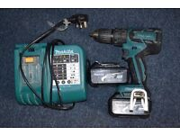 Used makita brushlees drill with charger and 2x batteries