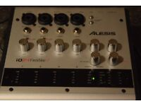 ALESIS IO/14 FIRE WIRE MIDI OUT/IN 4 MIC IN POWER ADAPTER