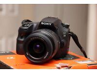 Sony SLT a58 digital camera, twin lens kit
