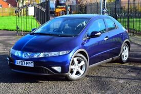 2007 HONDA CIVIC ES I-VTEC 1.8*LEATHER*HEATED SEATS*GLASS ROOF*3 MONTHS WARRANTY*SERVICE HISTORY*