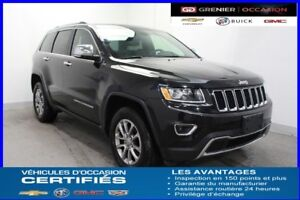 2016 Jeep GRAND CHEROKEE Limited 4X4  *TOIT CAM.REC CUIR*