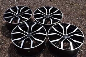 "18"" VW Golf Santiago Style Alloy Wheels Mk5 Mk6 MK7 Audi A3 2nd Gen Brand New Boxed Black Polished"