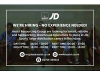 JD SPORTS WAREHOUSE OPERATIVE - NO EXPERIENCE NEEDED!