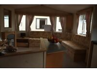 CHEAP 12ft Wide Heated Static Caravan With DECKING! 12 Month Family Park, Borth Nr Aberystwyth WALES