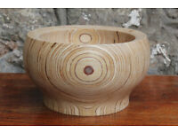 Unusual Hand Carved Wooden Bowl Fruit Bowl GPR Woodturning