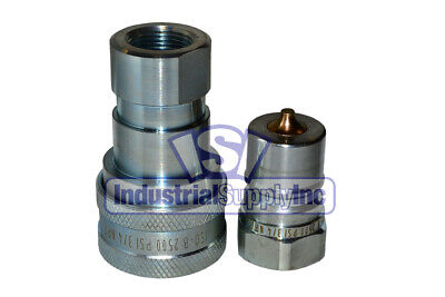 Quick Coupler Iso 7241-1 B 34 Npt Pipe Threads Complete Set 10 Pk