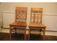 2 John Lewis, solid pine, dining/kitchen chairs...good condition, very solid