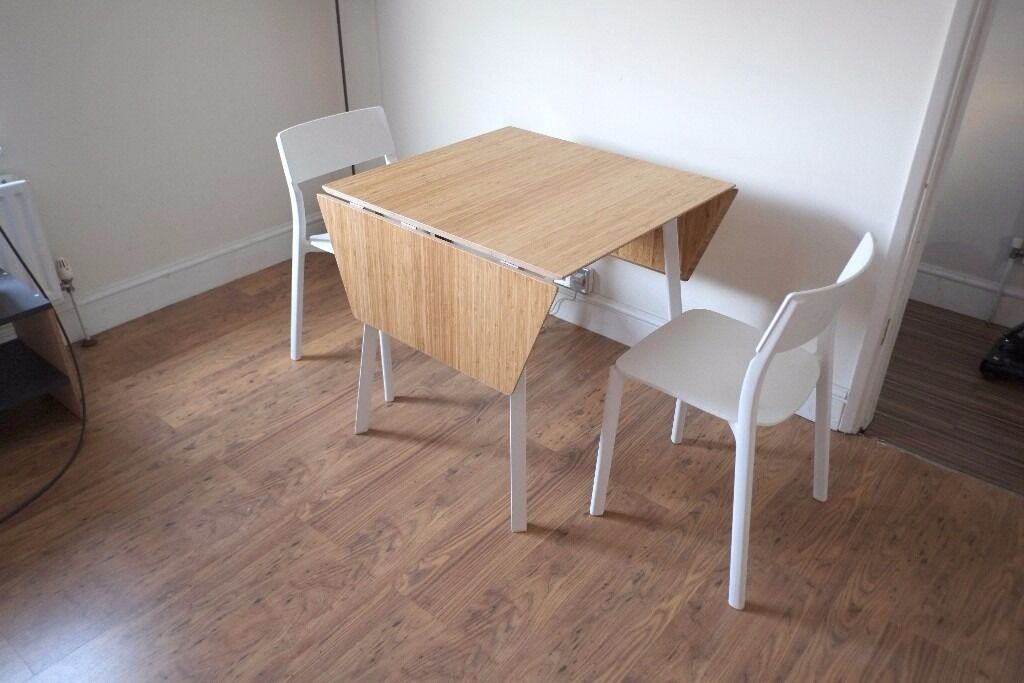 drop leaf table ikea ps 2012 and 2 chairs in bromley london gumtree. Black Bedroom Furniture Sets. Home Design Ideas