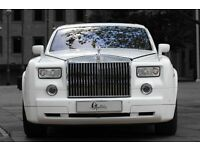 rolls royce phantom hire, limo hire, wedding car hire, airport transfers, prom cars, limousine hire
