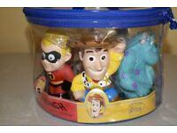 Box of NEW Disney Pixar bath toys
