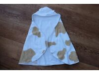 Cuddledry toddler bath towel – cuddlemoo design