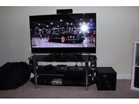 Black Glass TV Unit (stand)