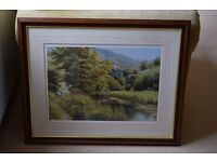 Woodland scene, print by William R Makinson