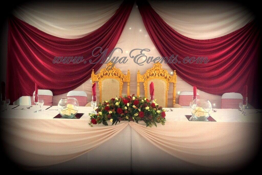 Wedding Head Table Decor Hire Backdrop 199 Cutlery Rental 29p Table