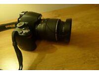 NIKON D3000 with lens