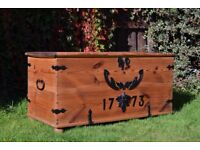 Antique Blanket box Trunk Chest Coffee table