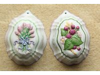 2 X FRANKLIN MINT - JELLY MOULDS