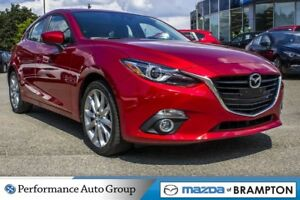 2016 Mazda MAZDA3 SPORT GT. LEATHER. HTD SEATS. ROOF. CAM. NAVI