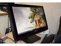"""Mega fast, fab condition Dell 20"""" Core i5 Quad-Core touchscreen all in one PC."""