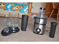 EGL 2-in-1 Stainless Steel whole fruit Juicer Glass Jug Blender