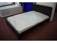 Double Faux Leather Bed £39.99