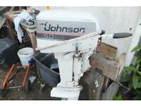 johnson 5hp std shaft outboard full working order