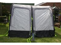 Kampa Rally Air 260 air frame awning, includes set of rear upright poles, pump and storm straps