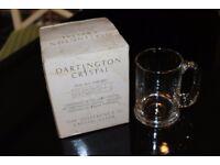 Dartington Half Pint Crystal Tankard in Original Box